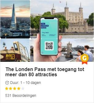 Londen Pass - Toegang tot 80 attracties